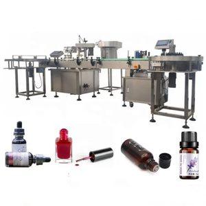 सक्शन अँटी ड्रिप डिव्हाइससह 3 केडब्ल्यू आवश्यक तेल बाटली भरणे मशीन