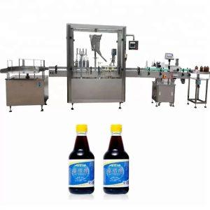 4 नोजलसह पीएलसी कंट्रोल ग्लास बाटली कॅपिंग मशीन