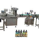 30 एमएल अंबर बाटल्यांसाठी दोन प्रमुख पूर्णपणे स्वयंचलित बाटली भरण्याचे यंत्र